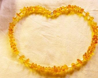 Baltic Amber Necklace Honey Amber Choker Genuine Amber & Mother Of Pearl Beads Boho Necklace Choker Jewelry MOP Gemstone Jewelry