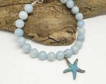 Amazonite Starfish Bracelet CS103