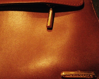 Vintage Designer Liz Claiborne Caramel brown leather handbag excellent condition