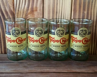 YAVA Glass - Upcycled Topo Chico Bottle Glasses (Set of 4)
