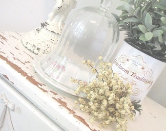 Vintage Glass Cloche * Dome * Shabby French Cottage