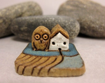 MyLand - The Owl Wing - Collectible 3x3 cm or 1.2x1.2 in. puzzle in stoneware