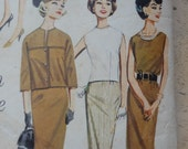 Vintage 1960s Suit and Dress Sewing Pattern, Butterick 823, Bust 36