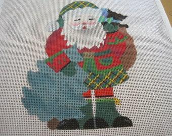 Vintage Christmas Needlepoint Canvas