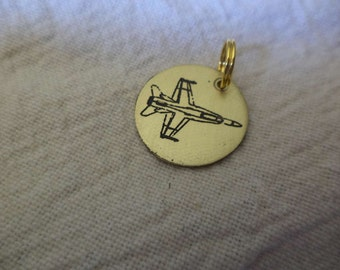F-18 Hornet Etched Brass Charm