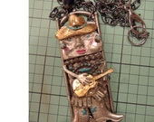 Glitzy Gerty Plays The Guitar - Glitzy Gerty Collection - Art Doll Jewelry