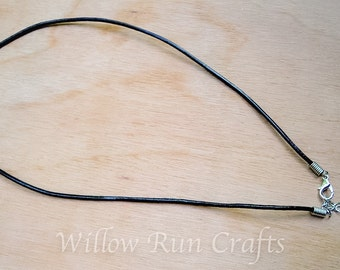 20 Leather Necklaces 18 inch Black with Extender (16-86-424)
