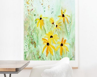 Black Eyed Susans - Oversized Wall Art