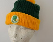 Vintage GREEN BAY PACKERS winter hat with pom 1970's