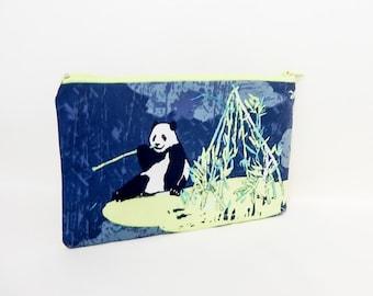 Panda Pouch, Pencil Case, Pencil Pouch, Zipper Pouch, Fabric Pouch, Fabric Zipper Pouch, Change Pouch,Coin Purse, Panda Zipper Case, Case