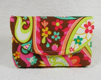Paisley Snap Pouch, Large Snap Pouch, Accessory Pouch ... Sweet Nothings Paisley