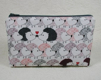 Zipper Pouch, Hedgehog Heaven, Hedgehog Love, Hedgehog Pouch