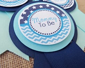 Chevron Baby Shower Decorations, Baby Shower Decorations, Star Baby Shower Décor, Star Baby Shower MOM TO BE Pin, You Choose The Colors
