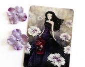 30% Off Halloween Sale - Purple Meadow - Postcard