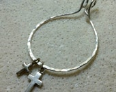 Unique Silver Charm Holder for Your Own Charms - XL -Hand Made to Order