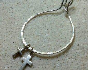Unique Large Silver Charm Holder for Your Own Charms - XL -Hand Made to Order