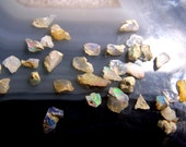 Ethiopian Opal gemstone pieces - raw rough stone tiny chip pebble sand nugget crystal - welo natural genuine by carat gram small pieces 7o