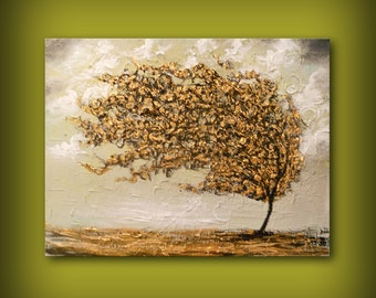 Art original painting heavy texture tree painting wall art wall hanging acrylic painting abstract painting large painting 22  x 28 fine art