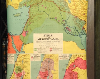 Sunday Bible School Map of Syria and Mesopotamia
