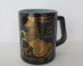 Federal Glass Capricorn Mug