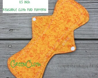 Flares XL - 11.5 inch reusable cloth pad pattern