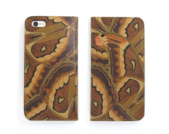 Leather iPhone 6 case, Galaxy S6 case, iPhone 6s Case, iPhone 6s Plus Case, iPhone 5/5s CaseiPhone 5/5s - The Atlas Moth (Exclusive Range)