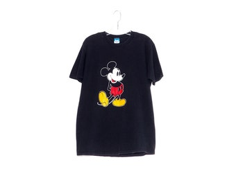 vintage MICKEY MOUSE shirt / oversized shirt tshirt t shirt disney shirts disney shirt faded black shirt 90s clothing