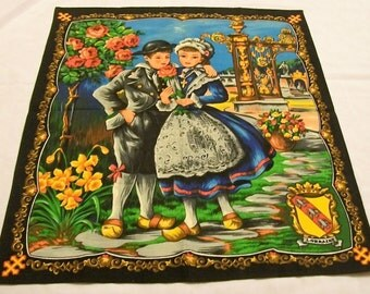 Vintage Wall Hanging, Fabric Wall Hanging, Fabric Picture, LORRAINE, Fabric Wall Hanging