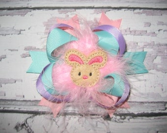 Easter Bunny Over the Top Hair Bow