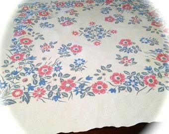 Tablecloths Vintage Linens Cotton Tablecloths Vintage Floral Tablecloth  Kitchen Linens