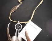 Wolf Shaped Vine Dream Catcher Native American Made