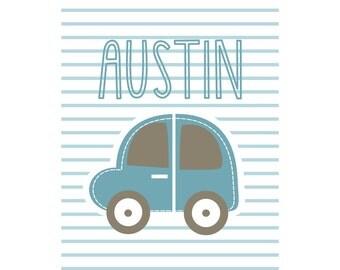 Boys Personalized Name Print Austin