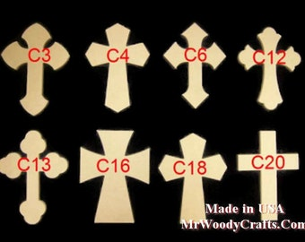 """4"""" x 6"""" 1/2"""" Thick Wooden Crosses ready for painting, made from MDF  040650"""