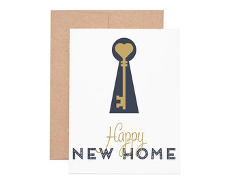 Happy New Home Letterpress Greeting Card - Congrats | Congratulations Card | Greeting Cards | Letterpress Cards