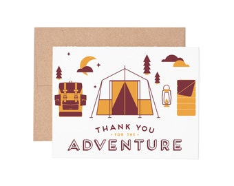 Boxed Cards - Thank You for the Adventure Letterpress Greeting Cards - Boxed Set | Thank You Cards | Thanks