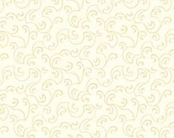 SALE Apple Cider White Fabric - Ecru Beige Cream - APPL158W