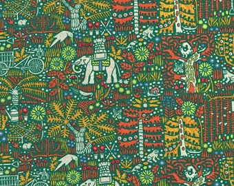 Liberty Tana Lawn Castile Green Fabric- Fat Quarter