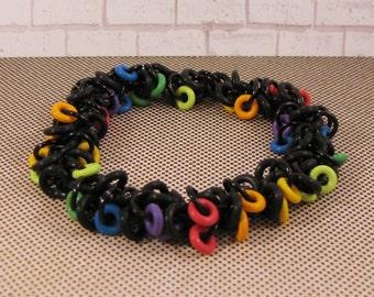 Rainbow Shaggy Loop Bracelet
