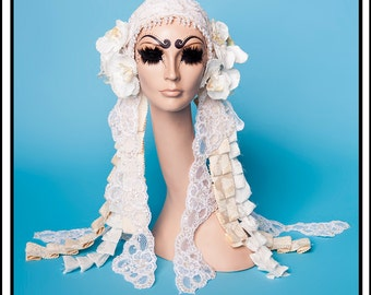 SALE TODAY Virgin… White and Cream Floral Headband