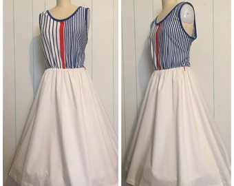 Blue and White Striped Dress 18