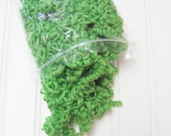 Green Curly Yarn Hair for Your Handmade Dolls