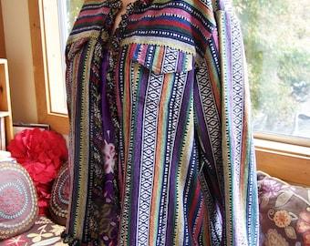 Guatemala Jacket, Plus size jacket, Rainbow Jacket, Gypsy jacket, boho jacket, Cotton jacket, size 2X