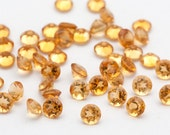 5mm Faceted Citrine Gemstones Golden Yellow Sunshine