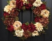 WREATH, Holiday Wreaths, XL Fall Wreath, Thanksgiving Decor, Christmas Wreaths, Front Door Wreaths, Holiday Home Decor, Holiday Entertaining