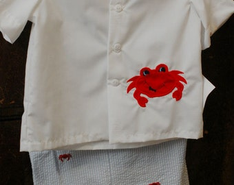 Summer Boy Crab Shirt & Short Set
