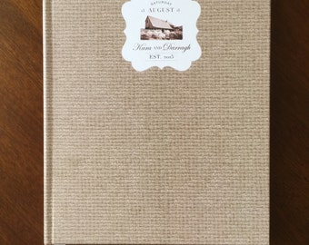 Personalized Barn Wedding Guest Book Hardcover