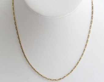 Anchor Link Chain in solid 10K Yellow Gold, lobster clasp, 15 inches and 2.6 grams, free US first class shipping