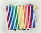 Rainbow Stripe Zippered & Waterproof, Mini Wetbag,  INSTOCK