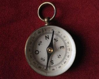 Brass compass pendant III