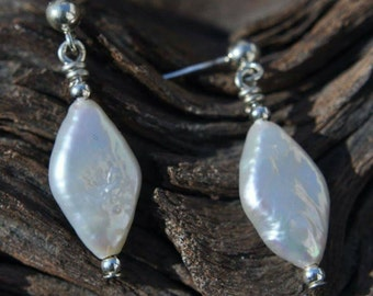 White Pearl Earrings